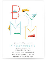 This is a orange baby shower invitation by Kimberly FitzSimons called Boy Mom with standard printing on signature in standard.