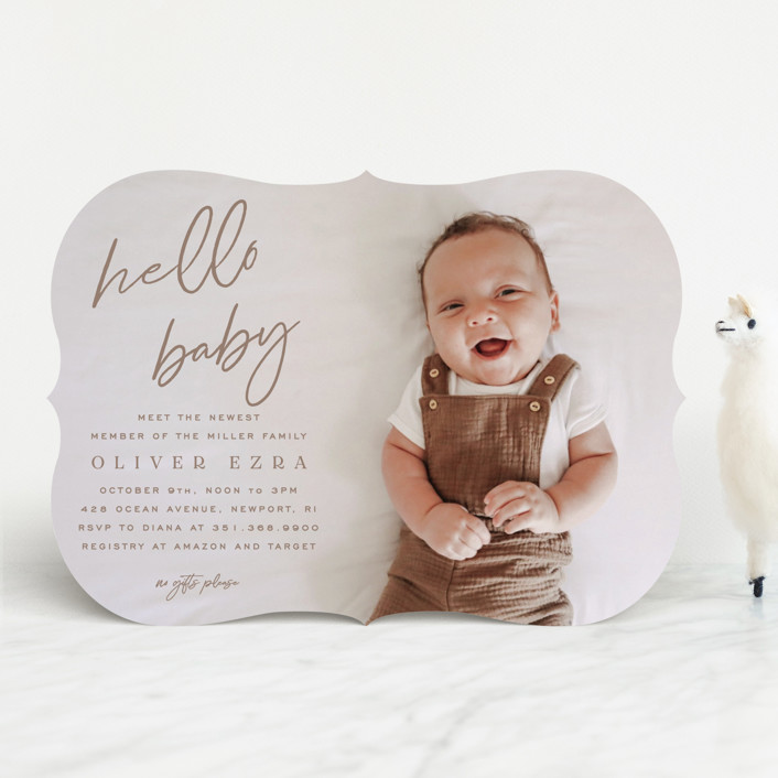 """""""NEWEST"""" - Baby Shower Invitations in Desert by Owl and Toad."""