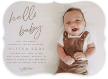 This is a brown baby shower invitation by Owl and Toad called NEWEST with standard printing on signature in standard.