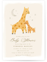 This is a beige baby shower invitation by chocomocacino called Stracciatella with standard printing on signature in standard.