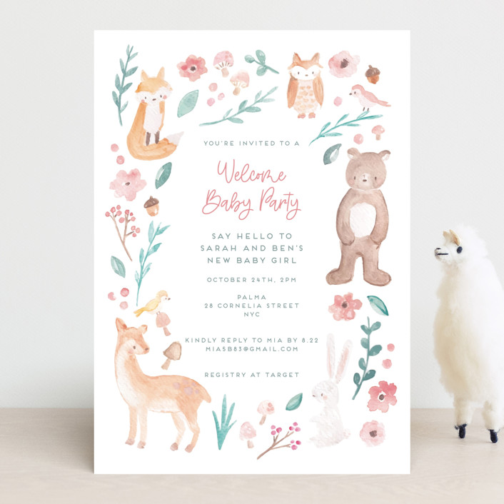 """""""garden baby"""" - Whimsical & Funny Baby Shower Invitations in Sage by peetie design."""
