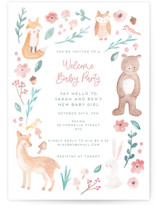 This is a green baby shower invitation by peetie design called garden baby with standard printing on signature in standard.
