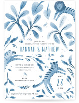 This is a blue baby shower invitation by Pati Cascino called New Adventure with standard printing on signature in standard.