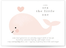 This is a pink baby shower invitation by Lori Wemple called Sea with standard printing on signature in standard.