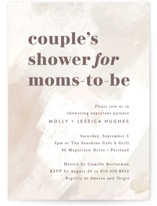 This is a beige baby shower invitation by Hooray Creative called Modern Parents with standard printing on signature in standard.