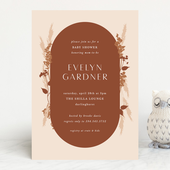 """""""harvest"""" - Baby Shower Invitations in Falla by Corinne Malesic."""