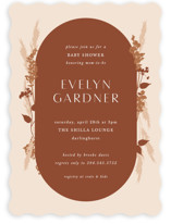 This is a brown baby shower invitation by Corinne Malesic called harvest with standard printing on signature in standard.