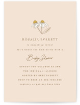 This is a pink baby shower invitation by Corinne Malesic called Twin Daisy with standard printing on signature in standard.