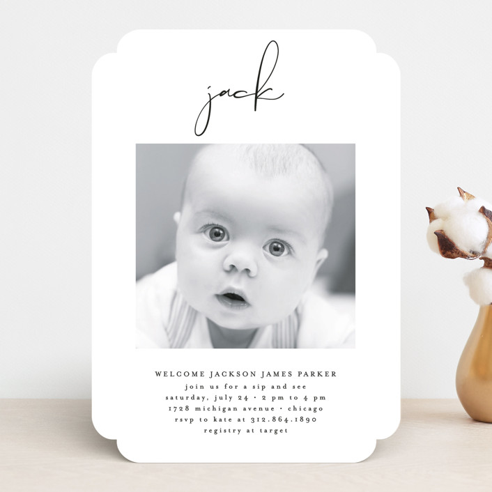 """""""Just Me"""" - Baby Shower Invitations in Midnight by Lehan Veenker."""