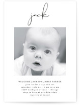 This is a black baby shower invitation by Lehan Veenker called Just Me with standard printing on signature in standard.