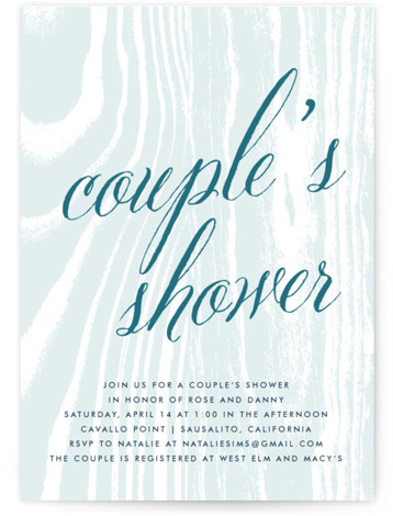 This is a portrait bohemian, rustic, blue Bridal Shower Invitations by annie clark called Big Sur with Standard printing on Signature in Classic Flat Card format. Our unique bridal shower designs are fully customizable, sourced from independent designers and printed ...