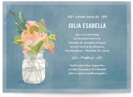Bouquet D'Amour Bridal Shower Invitations