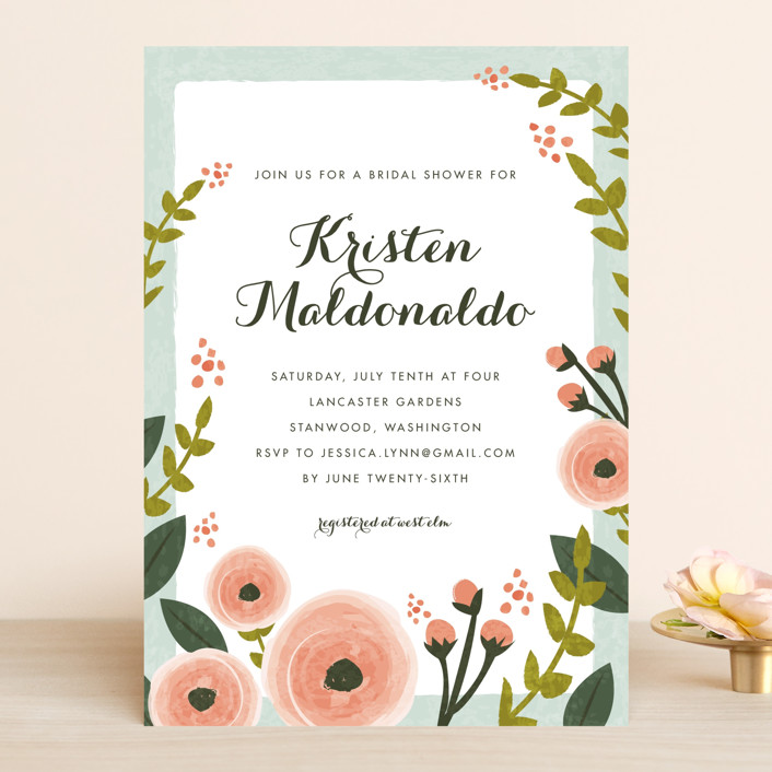 English floral garden bridal shower invitations by karidy walker english floral garden bridal shower invitations in peony by karidy walker filmwisefo