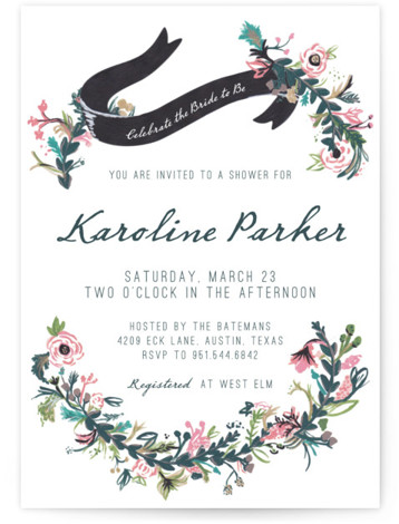 This is a portrait floral, rustic, vintage, green Bridal Shower Invitations by Abbey Cleveland called Floral Hand Painted with Standard printing on Signature in Classic Flat Card format. Our unique bridal shower designs are fully customizable, sourced from independent designers ...