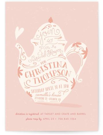 Tea Time Bridal Shower Invitations