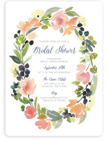 This is a pink bridal shower invitation by Yao Cheng Design called Watercolor Wreath with standard printing on signature in standard.