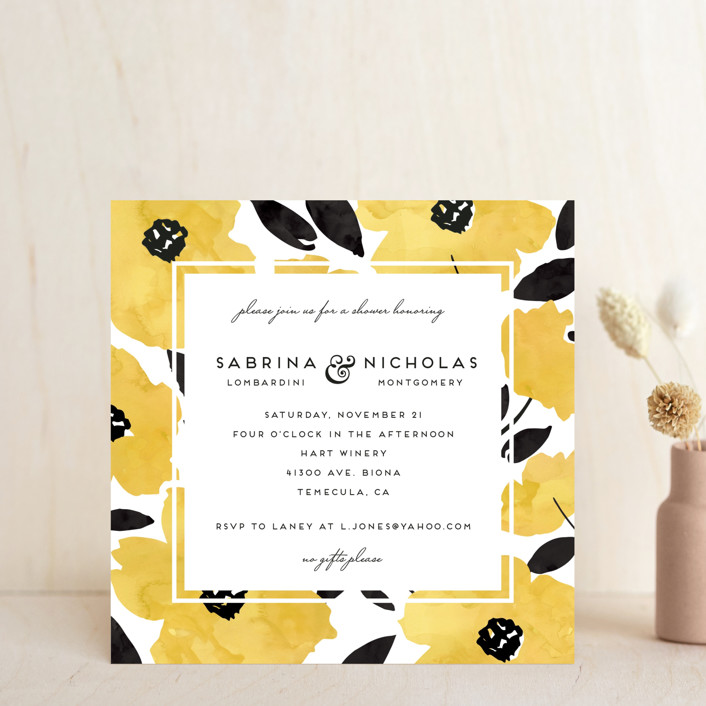 Dark romance bridal shower invitations by petra kern minted dark romance bridal shower invitations in daisy by petra kern filmwisefo Choice Image