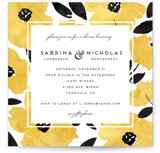 This is a yellow bridal shower invitation by Petra Kern called Dark Romance with standard printing on signature in standard.