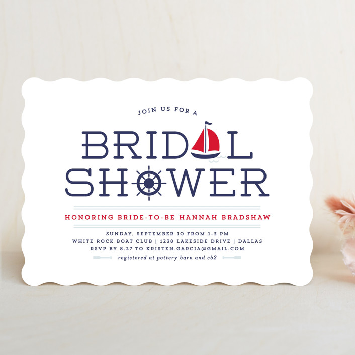 """""""Ahoy"""" - Bridal Shower Invitations in Apple by Lauren Chism."""