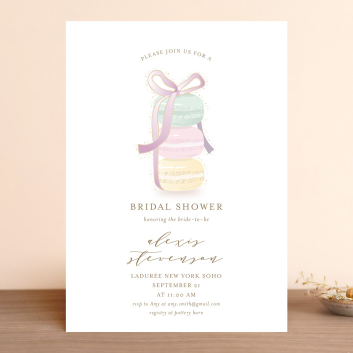 """Sweet Gathering"" - Bridal Shower Invitations in Sweetheart by Ana Sharpe."