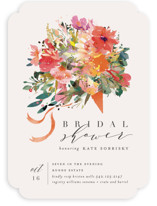 This is a colorful bridal shower invitation by Lori Wemple called Tossed Bouquet with standard printing on signature in standard.