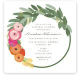 This is a colorful bridal shower invitation by Itsy Belle Studio called Flower Crown with standard printing on signature in standard.
