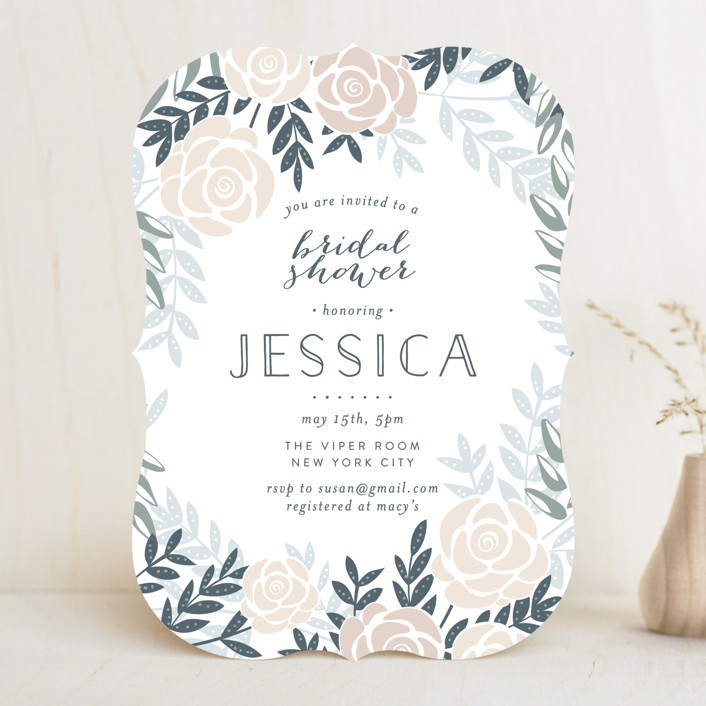 """""""Fantasy Floral"""" - Floral & Botanical Bridal Shower Invitations in Dove by Phrosne Ras."""