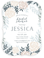 This is a colorful bridal shower invitation by Phrosne Ras called Fantasy Floral with standard printing on signature in standard.