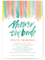 This is a green bridal shower invitation by Cass Loh called colourful banner with standard printing on signature in standard.