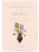 This is a pink bridal shower invitation by Nazia Hyder called Kumquat with standard printing on signature in standard.