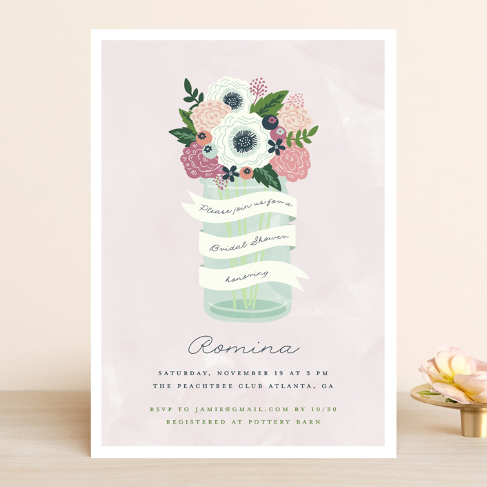 """Sweet bouquet"" - Bridal Shower Invitations in Spring by iamtanya."