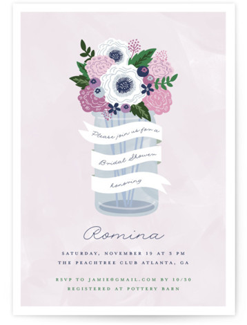 Sweet bouquet Bridal Shower Invitations