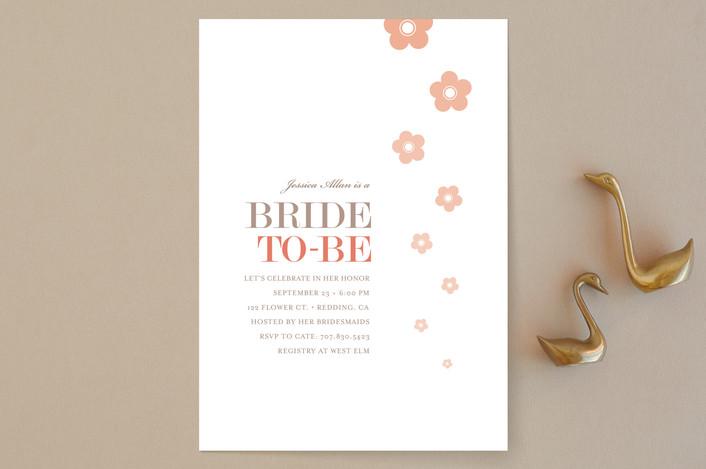 """Blossom Shower"" - Modern, Floral & Botanical Bridal Shower Invitations in Petal by kelli hall."