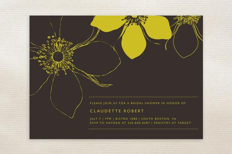 Modern Lotus Bridal Shower Invitations