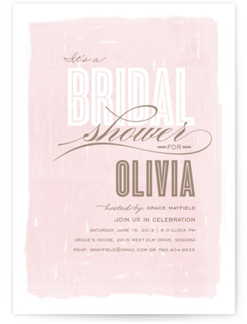 This is a portrait hand drawn, whimsical, pink Bridal Shower Invitations by Griffinbell Paper Co. called Aqueous with Standard printing on Signature in Classic Flat Card format. Our unique bridal shower designs are fully customizable, sourced from independent designers and ...