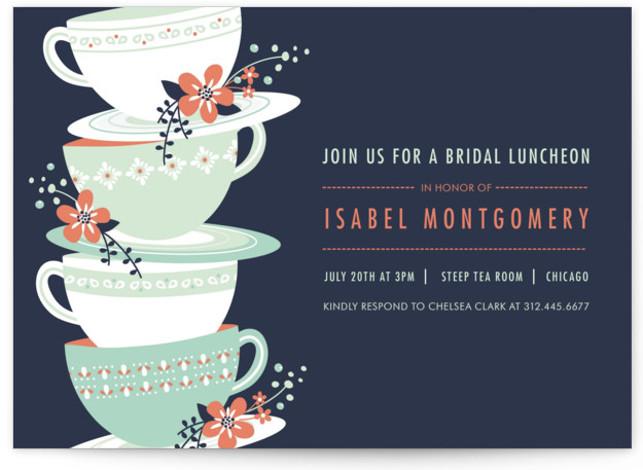 Time for Tea Bridal Shower Invitations