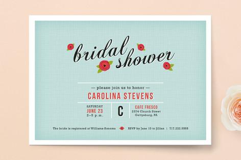 Poppy Flower Bridal Shower Invitations