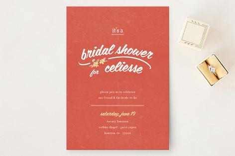 Flower Toss Bridal Shower Invitations