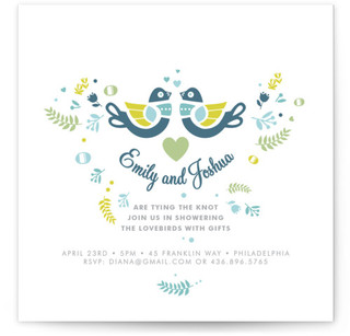 Love Bird Bridal Shower Invitations