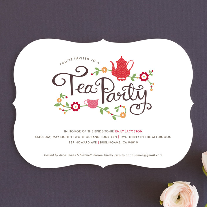 Tea Party Bridal Shower Invitations By Kristen Smith Minted