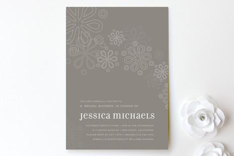 Cascading Bridal Shower Invitations