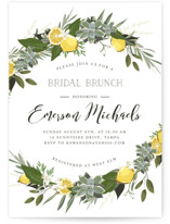 This is a colorful bridal shower invitation by Susan Moyal called Citrus & Greens with standard printing on signature in standard.