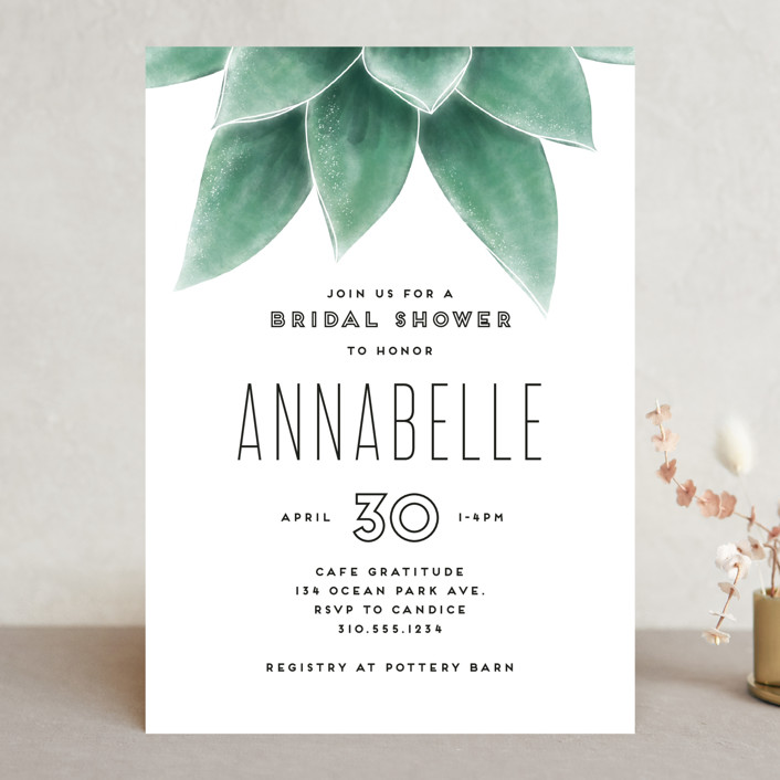 """Greenery"" - Bridal Shower Invitations in Greenery by Leah Bisch."