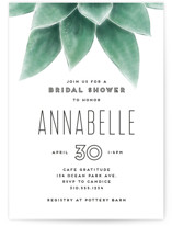 This is a green bridal shower invitation by Leah Bisch called Greenery with standard printing on signature in standard.