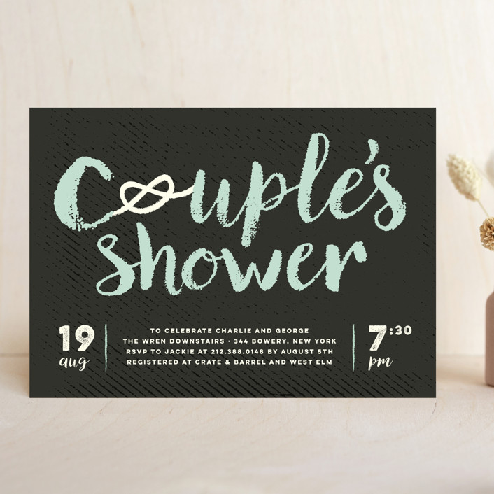 """""""Couple's Knot"""" - Bridal Shower Invitations in Honeydew by fatfatin."""