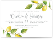 This is a green bridal shower invitation by Erin Deegan called Lemon Drop with standard printing on signature in standard.