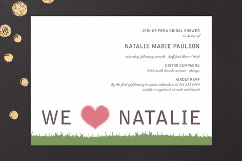 float green Bridal Shower Invitations