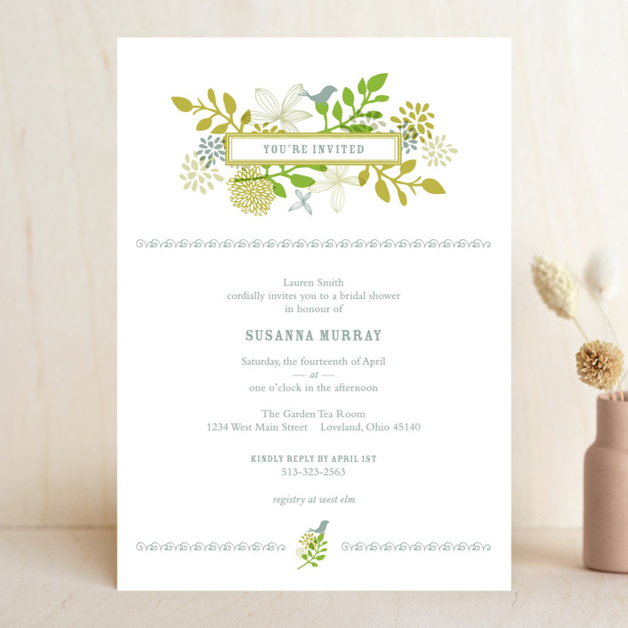 Bridal shower ideas and planning minted wedding guide wedding planning home wedding invitation wording stopboris Image collections
