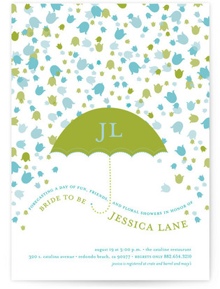 Floral Showers Bridal Shower Invitations