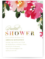This is a colorful bridal shower invitation by Angela Marzuki called Vivacious with standard printing on signature in standard.